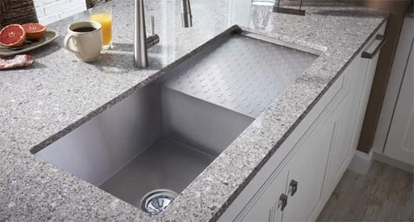 Undermount Sink And Drainer Flutes Granite Zone