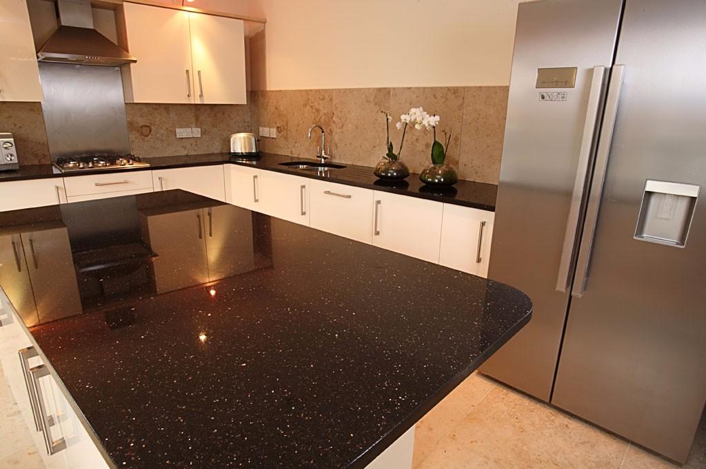 Star Galaxy Granite Kitchen Worktops Black Galaxy Granite